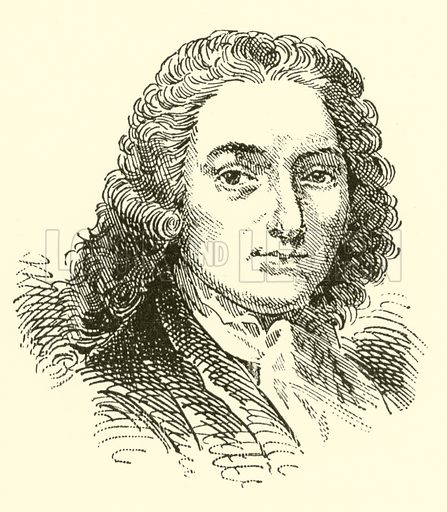 Jean Marie Leclair, 1697–1764. Illustration for Cyclopedia of Music and Musicians edited by John Denison Champlin (Charles Scribner, 1889).