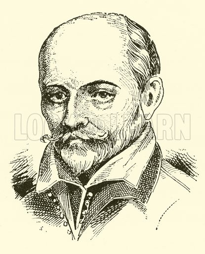 Claude Lejeune (Claudin), 1530–1598 and 1603. Illustration for Cyclopedia of Music and Musicians edited by John Denison Champlin (Charles Scribner, 1889).