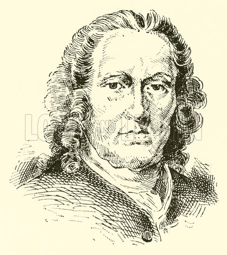 Richard Leveridge, 1670–1758. Illustration for Cyclopedia of Music and Musicians edited by John Denison Champlin (Charles Scribner, 1889).