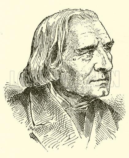 Franz Liszt, 1811–1886. Illustration for Cyclopedia of Music and Musicians edited by John Denison Champlin (Charles Scribner, 1889).