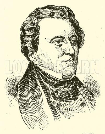 Karl Loewe. Illustration for Cyclopedia of Music and Musicians edited by John Denison Champlin (Charles Scribner, 1889).