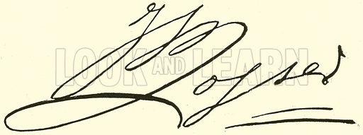 Johann Bernhard Logier, 1777–1846, signature. Illustration for Cyclopedia of Music and Musicians edited by John Denison Champlin (Charles Scribner, 1889).