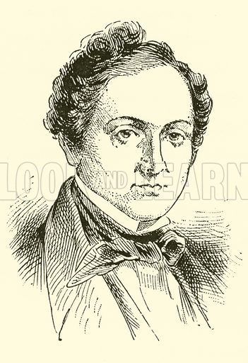 (Gustav) Albert Lortzing, 1803–1851. Illustration for Cyclopedia of Music and Musicians edited by John Denison Champlin (Charles Scribner, 1889).