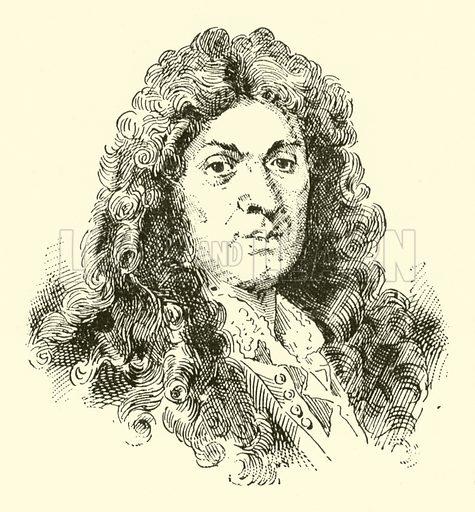 Jean Baptiste Lully (Lulli), 1633–1687. Illustration for Cyclopedia of Music and Musicians edited by John Denison Champlin (Charles Scribner, 1889).