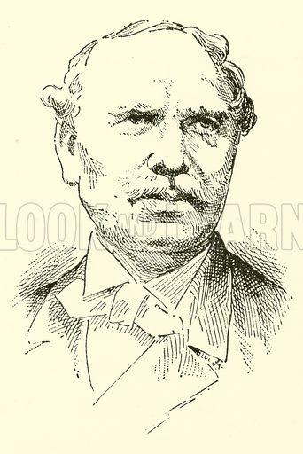 Hans Christian Lumbye, 1810–1874. Illustration for Cyclopedia of Music and Musicians edited by John Denison Champlin (Charles Scribner, 1889).