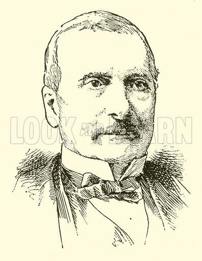Auguste Mermet. Illustration for Cyclopedia of Music and Musicians edited by John Denison Champlin (Charles Scribner, 1889).