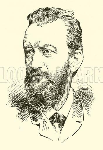 Karl Millocker. Illustration for Cyclopedia of Music and Musicians edited by John Denison Champlin (Charles Scribner, 1889).