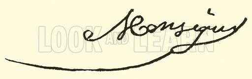 Pierre Alexandre Monsigny, signature. Illustration for Cyclopedia of Music and Musicians edited by John Denison Champlin (Charles Scribner, 1889).