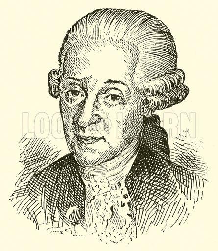 (Johann Georg) Leopold Mozart, 1719–1787. Illustration for Cyclopedia of Music and Musicians edited by John Denison Champlin (Charles Scribner, 1889).