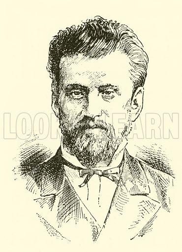 Eduard Napravnik. Illustration for Cyclopedia of Music and Musicians edited by John Denison Champlin (Charles Scribner, 1889).