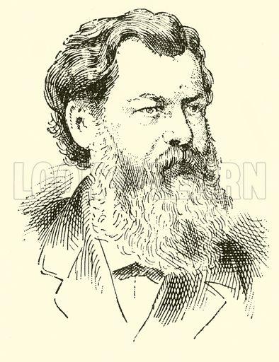 Victor Ernst Nessler. Illustration for Cyclopedia of Music and Musicians edited by John Denison Champlin (Charles Scribner, 1889).