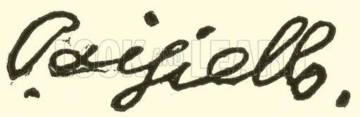 Giovanni Paisiello (Paesiello), 1741–1815, signature. Illustration for Cyclopedia of Music and Musicians edited by John Denison Champlin (Charles Scribner, 1889).
