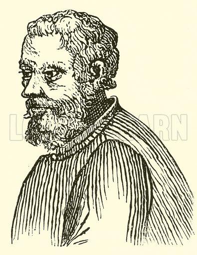 Giovanni Pierluigi da Palestrina, (Joannes Petraloysius Praenestinus), 1514–15-1594. Illustration for Cyclopedia of Music and Musicians edited by John Denison Champlin (Charles Scribner, 1889).