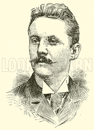 Horatio William Parker. Illustration for Cyclopedia of Music and Musicians edited by John Denison Champlin (Charles Scribner, 1889).