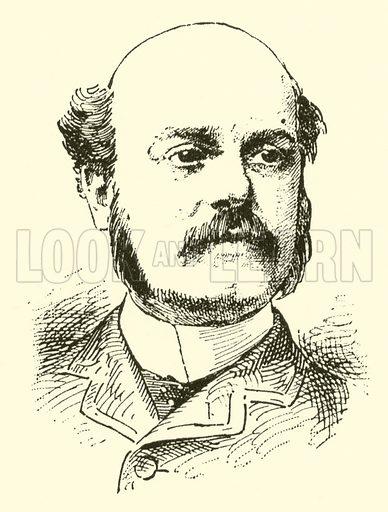 Albert Lister Peace. Illustration for Cyclopedia of Music and Musicians edited by John Denison Champlin (Charles Scribner, 1889).