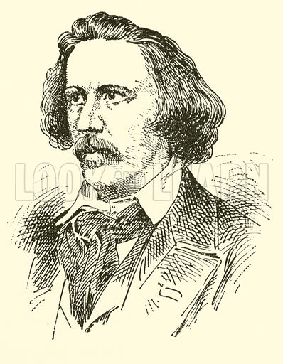 Henry Hugo Pierson (Pearson), 1816–1873. Illustration for Cyclopedia of Music and Musicians edited by John Denison Champlin (Charles Scribner, 1889).