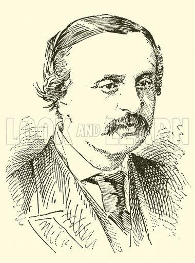 Cavaliere Ciro Pinsuti, 1829–1888. Illustration for Cyclopedia of Music and Musicians edited by John Denison Champlin (Charles Scribner, 1889).