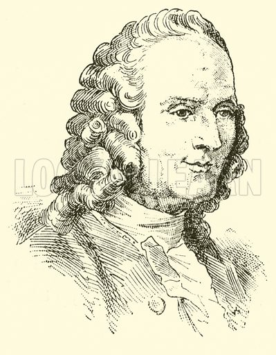 Jean Philippe Rameau, 1683–1764. Illustration for Cyclopedia of Music and Musicians edited by John Denison Champlin (Charles Scribner, 1889).
