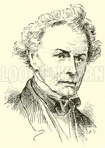 Napoleon Henri Reber, 1807–1880. Illustration for Cyclopedia of Music and Musicians edited by John Denison Champlin (Charles Scribner, 1889).