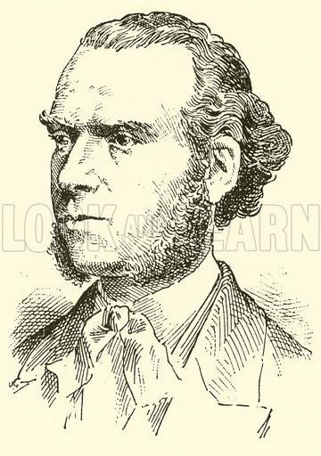 Karl (Heinrich Carsten) Reinecke. Illustration for Cyclopedia of Music and Musicians edited by John Denison Champlin (Charles Scribner, 1889).
