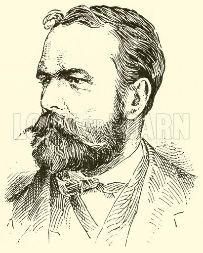 Joseph (Gabriel) Rheinberger. Illustration for Cyclopedia of Music and Musicians edited by John Denison Champlin (Charles Scribner, 1889).