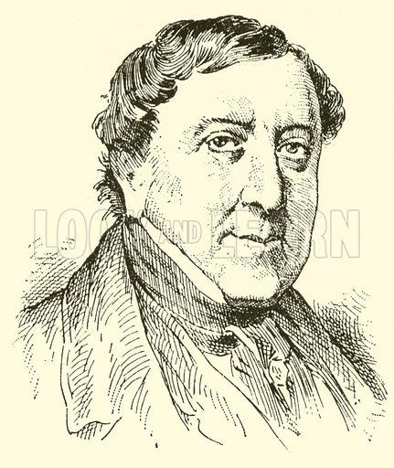 Gioacchino Antonio Rossini. Illustration for Cyclopedia of Music and Musicians edited by John Denison Champlin (Charles Scribner, 1889).
