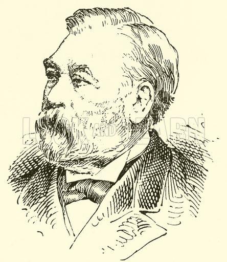 Prosper (Philippe Catherine) Sainton. Illustration for Cyclopedia of Music and Musicians edited by John Denison Champlin (Charles Scribner, 1889).
