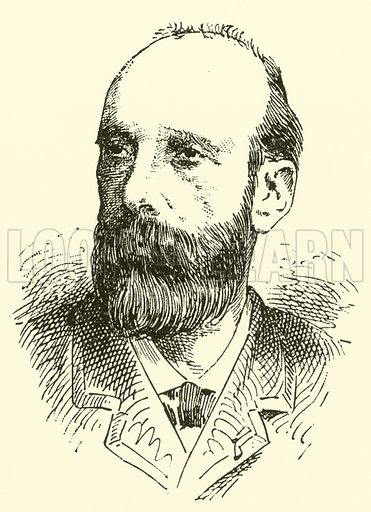 Gervais Bernard Salvayre. Illustration for Cyclopedia of Music and Musicians edited by John Denison Champlin (Charles Scribner, 1889).