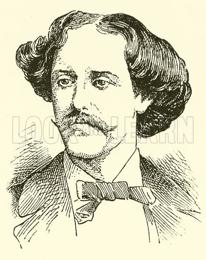 Pablo (Martin Meliton) de Sarasate (y Navascues). Illustration for Cyclopedia of Music and Musicians edited by John Denison Champlin (Charles Scribner, 1889).
