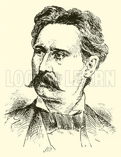(Franz) Xaver Scharwenka. Illustration for Cyclopedia of Music and Musicians edited by John Denison Champlin (Charles Scribner, 1889).