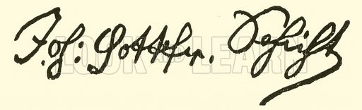 Johann Gottfried Schicht, 1753–1823, signature. Illustration for Cyclopedia of Music and Musicians edited by John Denison Champlin (Charles Scribner, 1889).