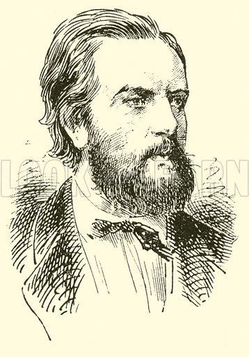 Bernhard E Scholz. Illustration for Cyclopedia of Music and Musicians edited by John Denison Champlin (Charles Scribner, 1889).