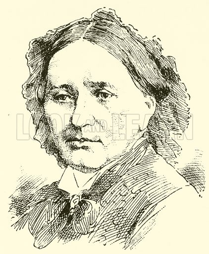 Clara (Josephine) Schumann. Illustration for Cyclopedia of Music and Musicians edited by John Denison Champlin (Charles Scribner, 1889).