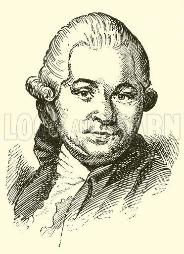 Anton Schweitzer, 1737–1787. Illustration for Cyclopedia of Music and Musicians edited by John Denison Champlin (Charles Scribner, 1889).