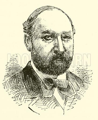 Edmund Singer. Illustration for Cyclopedia of Music and Musicians edited by John Denison Champlin (Charles Scribner, 1889).