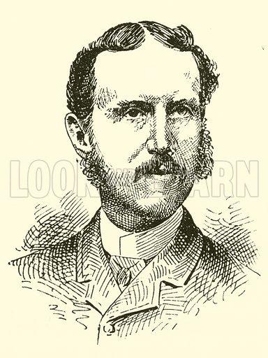 Willard Spenser. Illustration for Cyclopedia of Music and Musicians edited by John Denison Champlin (Charles Scribner, 1889).