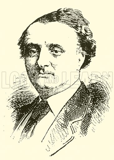 Sir John Stainer. Illustration for Cyclopedia of Music and Musicians edited by John Denison Champlin (Charles Scribner, 1889).