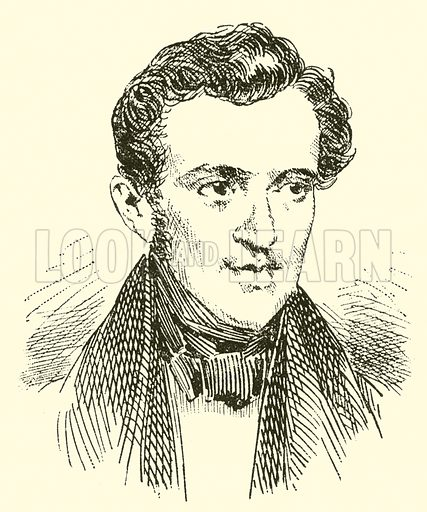 Johann Strauss, 1804–1849. Illustration for Cyclopedia of Music and Musicians edited by John Denison Champlin (Charles Scribner, 1889).