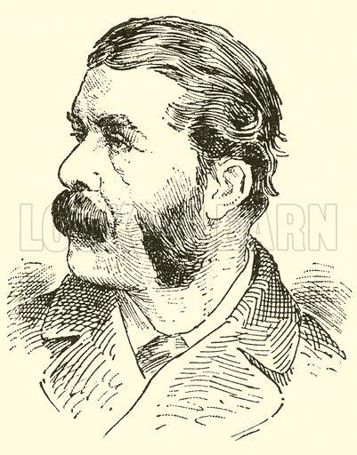 Sir Arthur Seymour Sullivan. Illustration for Cyclopedia of Music and Musicians edited by John Denison Champlin (Charles Scribner, 1889).
