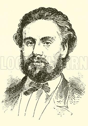 Johan (Severin) Svendsen. Illustration for Cyclopedia of Music and Musicians edited by John Denison Champlin (Charles Scribner, 1889).