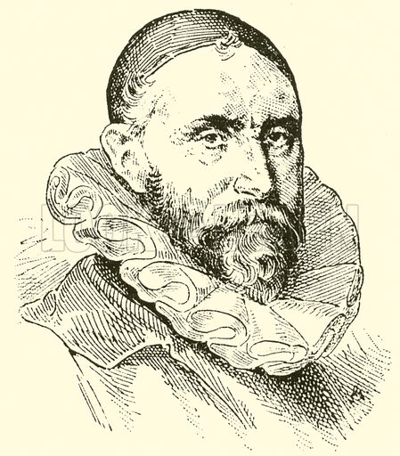 Jan Pieter Sweelinck, 1562–1621. Illustration for Cyclopedia of Music and Musicians edited by John Denison Champlin (Charles Scribner, 1889).