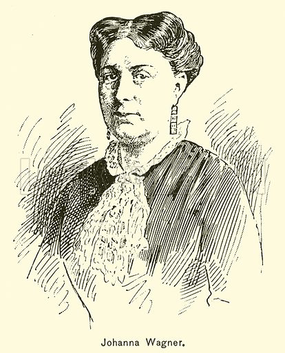 Johanna Wagner. Illustration for Cyclopedia of Music and Musicians edited by John Denison Champlin (Charles Scribner, 1889).