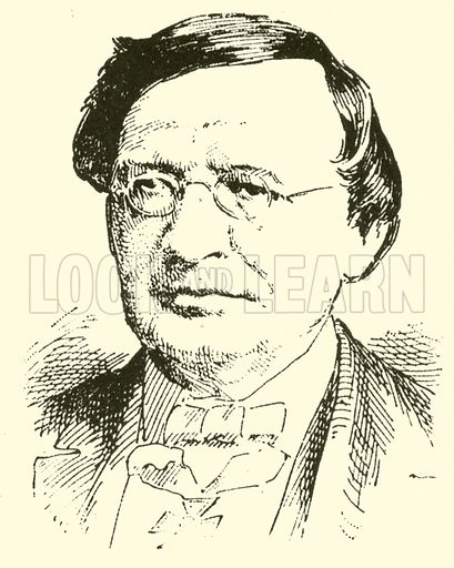 (Karl Gottfried) Wilhelm Taubert. Illustration for Cyclopedia of Music and Musicians edited by John Denison Champlin (Charles Scribner, 1889).