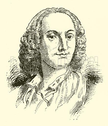 Abbata Antonio Vivaldi. Illustration for Cyclopedia of Music and Musicians edited by John Denison Champlin (Charles Scribner, 1889).
