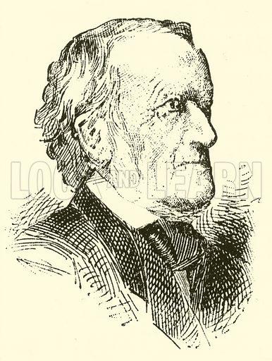 (Wilhelm) Richard Wagner, 1813–1883. Illustration for Cyclopedia of Music and Musicians edited by John Denison Champlin (Charles Scribner, 1889).