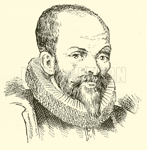 Christoph Thomas Walliser, 1568–1648. Illustration for Cyclopedia of Music and Musicians edited by John Denison Champlin (Charles Scribner, 1889).