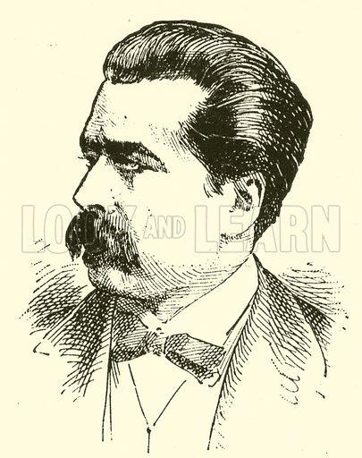 (Jozef) Joseph Wieniawski. Illustration for Cyclopedia of Music and Musicians edited by John Denison Champlin (Charles Scribner, 1889).
