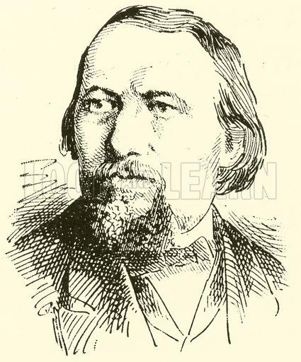 Karl Wilhelm, 1815–1873. Illustration for Cyclopedia of Music and Musicians edited by John Denison Champlin (Charles Scribner, 1889).