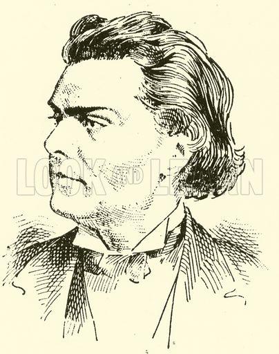 August (Emil Daniel Friedrich Victor) Wilhelmj. Illustration for Cyclopedia of Music and Musicians edited by John Denison Champlin (Charles Scribner, 1889).
