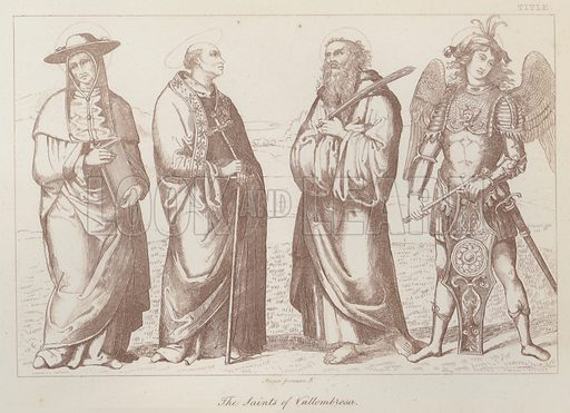 The Saints of Vallombrosa. Illustration for Legends of the Monastic Orders as represented in the Fine Arts by Mrs Jameson (6th edn, Longmans, 1880).